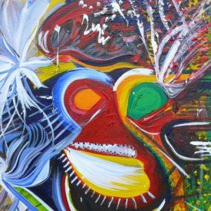 "Sus Scrofa, 2006 Acrylic on canvas 20"" x 16"" x 3/4"""