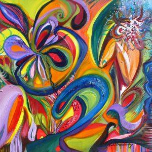 "Devoured, 2007 Oil on canvas 36"" x 36"" x 3/4"""